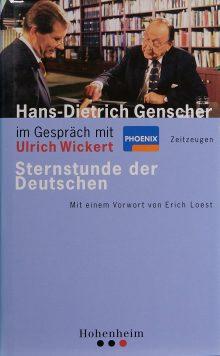 Hans-Dietrich Genscher im Gespräch mit Ulrich Wickert